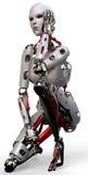 Cara dois da mulher do robô Fotografia de Stock