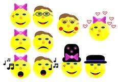 Cara dos desenhos animados do seletor Imagens de Stock Royalty Free