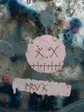 Cara dos grafittis Fotografia de Stock