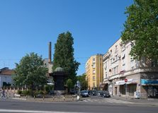 Cara Dusana街道在贝尔格莱德 库存图片