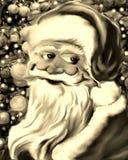 Cara e Santa Claus Black amável e branco ilustração do vetor