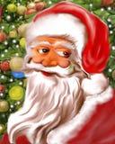 Cara e Santa Claus Colorful amável ilustração do vetor