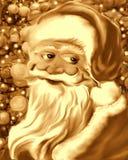 Cara e Santa Claus Sepia amável ilustração royalty free