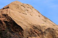 Cara el dormir en roca Fotografía de archivo