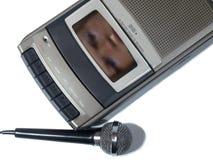 Cara electrónica del fenómeno de la voz Foto de archivo