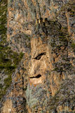 Cara em uma montanha no Peru imagem de stock