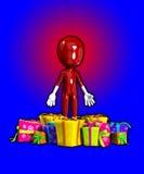 Cara en blanco con las porciones de regalos Fotos de archivo libres de regalías