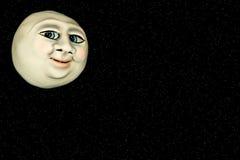 Cara en el camino del Luna-Recortes Fotos de archivo