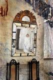 Cara en el espejo Imágenes de archivo libres de regalías