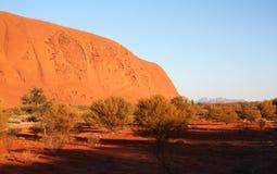 Cara en la roca de Ayers imagen de archivo