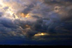 Cara en las nubes Imagen de archivo libre de regalías