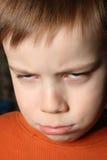 Cara enojada Fotografía de archivo libre de regalías