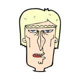 cara enojada de la historieta cómica Imagenes de archivo
