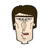 cara enojada de la historieta cómica Imagen de archivo