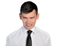 Cara enojada del hombre de negocios Fotos de archivo libres de regalías