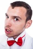 Cara enojada del hombre del friki Imágenes de archivo libres de regalías