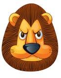 Cara enojada del león ilustración del vector