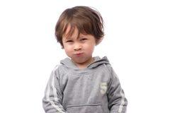 Cara enojada del muchacho Fotos de archivo libres de regalías