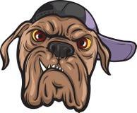 Cara enojada del perro stock de ilustración