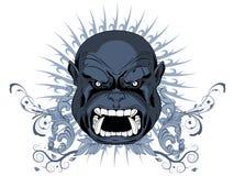 Cara enojada - diseño de la camiseta Fotografía de archivo libre de regalías