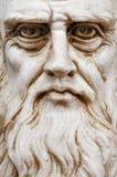 Cara entera de la opinión frontal de Leonardo da Vinci fotografía de archivo libre de regalías