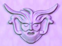 Cara esculpida ilustración del vector