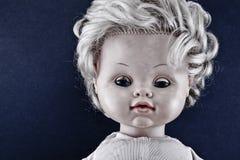 Cara espeluznante de la muñeca Imágenes de archivo libres de regalías