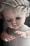 Cara espeluznante de la muñeca Fotos de archivo
