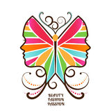 Cara fêmea da borboleta Fotos de Stock Royalty Free