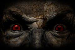 Cara fea demoníaca que le mira Fotografía de archivo libre de regalías