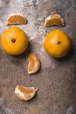 Cara feita dos mandarino fotografia de stock
