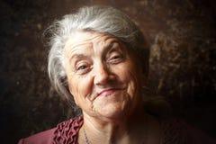 Cara feliz da avó Imagens de Stock Royalty Free