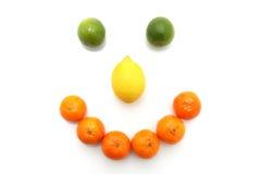 Cara feliz de la fruta Imagen de archivo libre de regalías