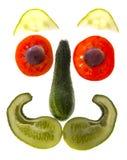 cara feliz de la verdura fotografía de archivo