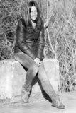 Cara feliz de una muchacha hermosa Imagen de archivo