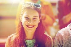 Cara feliz del adolescente Imagen de archivo libre de regalías