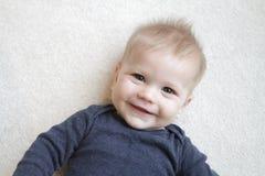 Cara feliz del bebé Foto de archivo