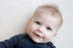 Cara feliz del bebé Imágenes de archivo libres de regalías