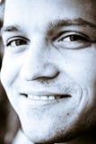 Cara feliz del hombre