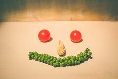 cara feliz do legume fresco da mistura imagens de stock
