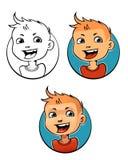 Cara feliz do menino do gengibre Foto de Stock
