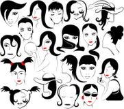 Cara femenina Imagen de archivo libre de regalías