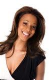 Cara femenina africana feliz Imagenes de archivo