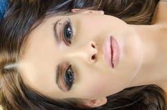 Cara femenina arriba fotos de archivo