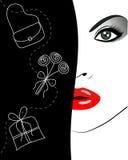 Cara femenina atractiva Foto de archivo libre de regalías