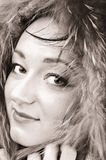 Cara femenina elegante joven con la piel Fotografía de archivo libre de regalías