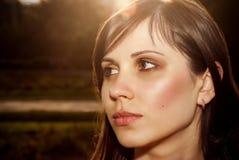 Cara femenina hermosa Imágenes de archivo libres de regalías