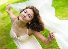 Cara femenina joven con la piel clara y el complexio delicado Imagen de archivo