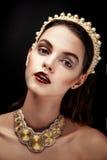 Cara femenina morena bonita Imágenes de archivo libres de regalías