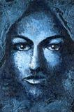 Cara feminino ilustração stock